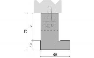 Держатели двухручьевых классических матриц серии SU075