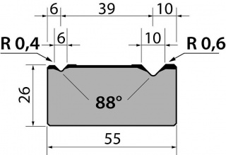 Матрицы R1 классические двухручьевые серии M26.88.01