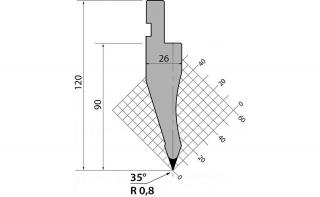 Пуансоны серии P.120.35.R08