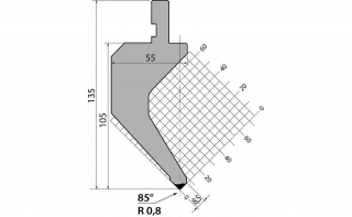 Пуансоны серии P.135.85.R08