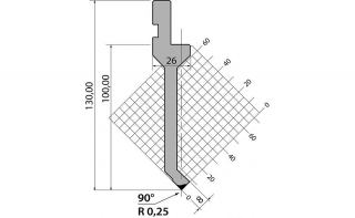 Пуансоны R1 классические серии P.130.90.R025
