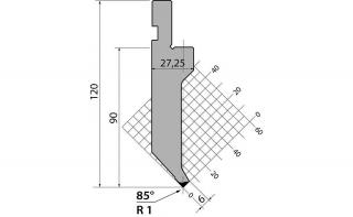 Пуансоны R1 классические серии P.120.85.R1