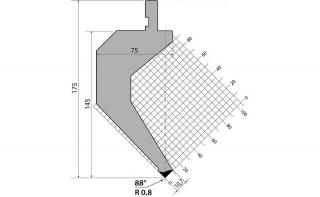 Пуансоны R1 классические серии P.175.88.R08