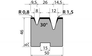 Матрицы двухручьевые быстросъемные классические серии 46.18