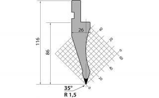 Пуансоны R1 классические серии P.116.35.R15