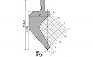 Пуансоны классические серии PK.135.85.R08