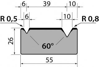 Матрицы R1 классические двухручьевые серии M26.60.01