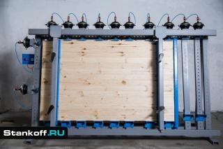 Пневматические ваймы для каркасных конструкций и мебельных щитов серии ВП17