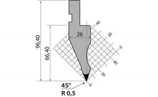 Пуансоны R1 классические серии P.97.45.R05