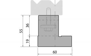 Держатели двухручьевых классических матриц серии SU055