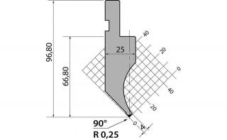 Пуансоны R1 классические серии P.97.90.R025
