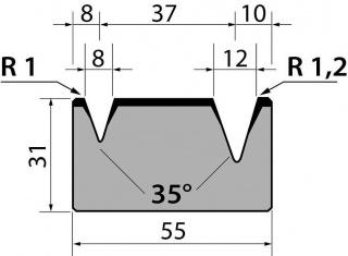 Матрицы R1 классические двухручьевые серии M31.35.02