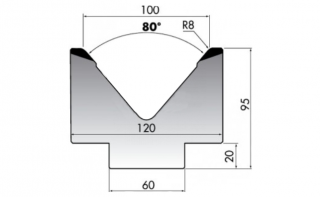 Матрицы для гибки серии M95.80.100