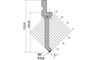 Пуансоны R1 классические серии P.130.90.R06