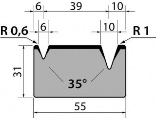 Матрицы R1 классические двухручьевые серии M31.35.01