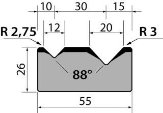 Матрицы R1 классические двухручьевые серии M26.88.03