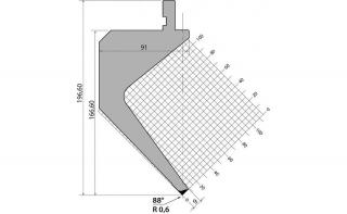 Пуансоны R1 классические серии P.196.88.R06