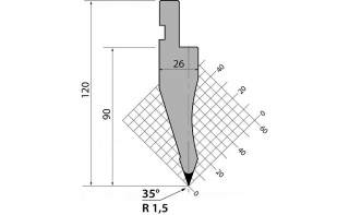 Пуансоны классические серии P.120.35.R15