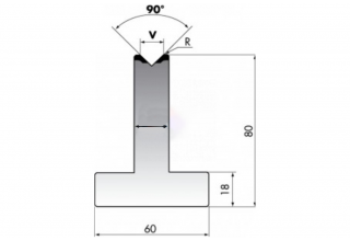 Матрицы для гибки металла серии T80.10.90