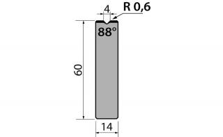 Матрицы R1 одноручьевые быстросъемные серии AMR60.04.88