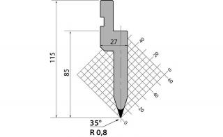 Пуансоны классические серии PU.85.35.R08