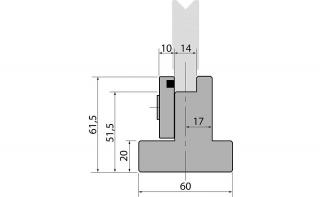 Держатели быстросъемных одноручьевых матриц R1 серии SU61F