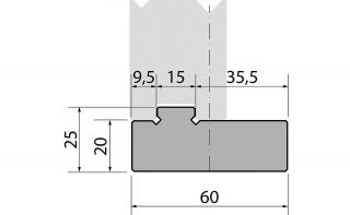 Держатели быстросъемных двухручьевых матриц R1 серии PM60