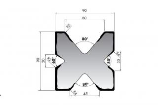 Матрицы для гибки листового металла серии M490